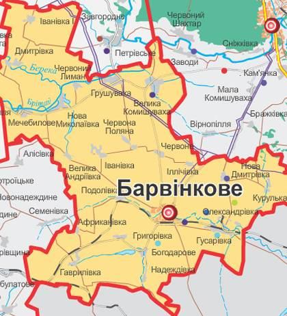 карта барвенковского района